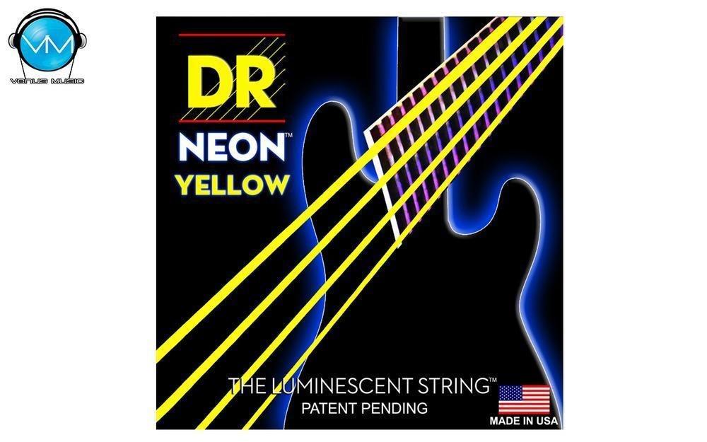 Encordadura DR Bajo 4 cuerdas NEON Yellow 45-105