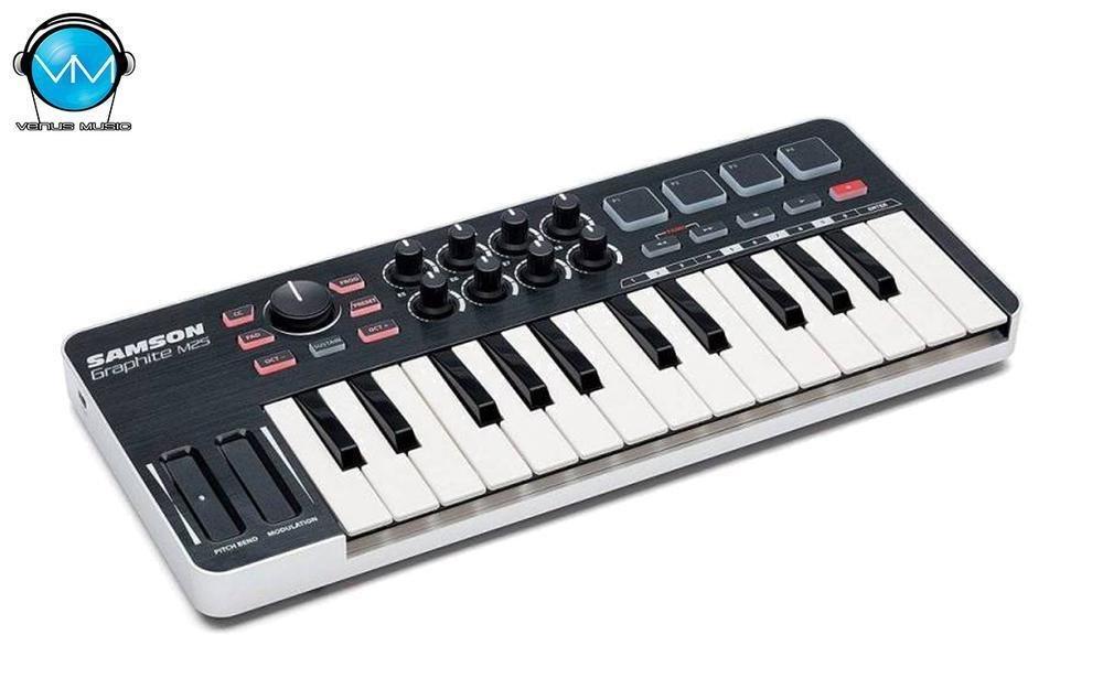 GRAPHITE 25 MINI CONTROLADOR MIDI USB 25 TECLAS