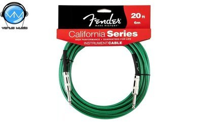 Cable para Instrumento Fender California Green 6M 0990520057
