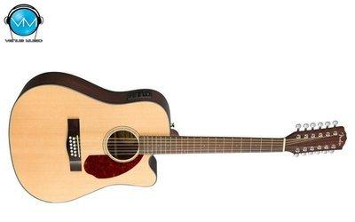 Guitarra Electroacústica Fender 12 Cdas con Estuche Rígido CD-140SCE-12 NATURAL