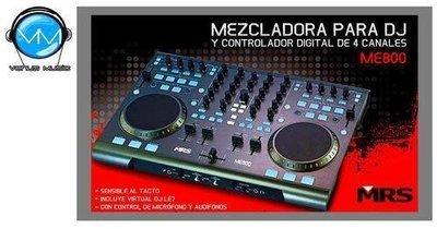 CONTROLADOR MRS ME-800 4 CANALES P/DJ