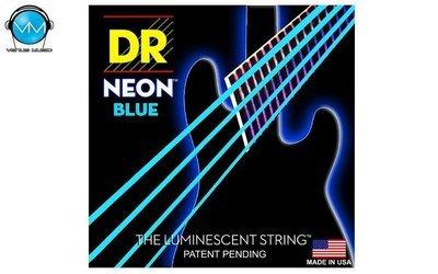 Encordadura DR Bajo 4 cuerdas NEON Blue 45-105