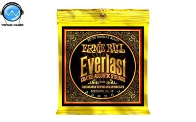 Ernie Ball 2556 Everlast MediumLight Encordadura Guit. Acust. 12-54
