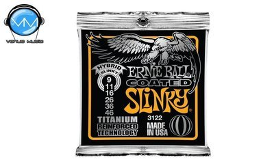 Ernie Ball 3122 Slinky Encordadura Guit. Eléctrica Hybrid Coated