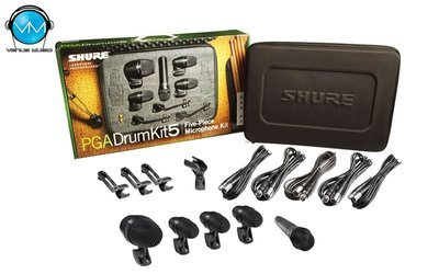 Shure PGADRUMKIT5 Kit de Micrófonos para Batería de 5 Piezas