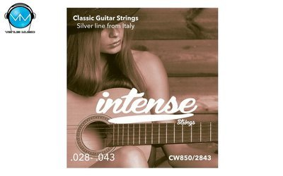 Encordadura Intense Strings Classic Guitar Nylon CW850