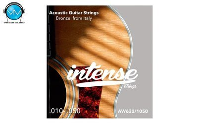 Encordadura Intense Strings Acoustic Guitar Bronze AW632