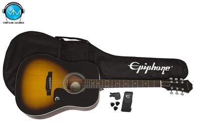 Guitarra Acústica Epiphone Player Pack FT100 Vintage Sunburst