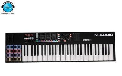 CONTROLADOR M-AUDIO MIDI USB CON X/Y PAD 61 TECLAS CODE61