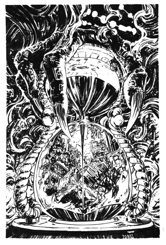 Inks for The Hourglass cover