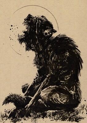 Drawlloween 2020 - 01 - Werewolf