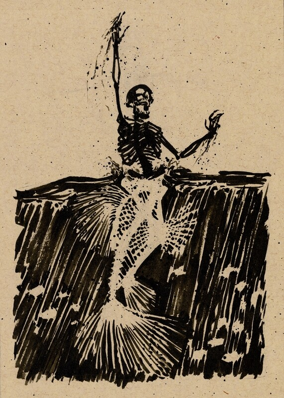 Drawlloween 2020 - 11 -Skeleton