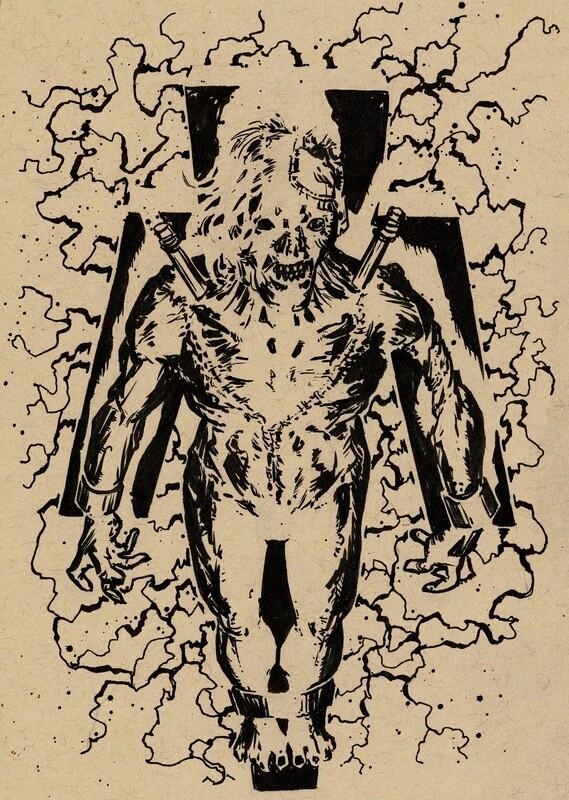 Drawlloween 2020 - 17 - Frankenstein