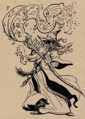Drawlloween 2020 - 22 - Wizard