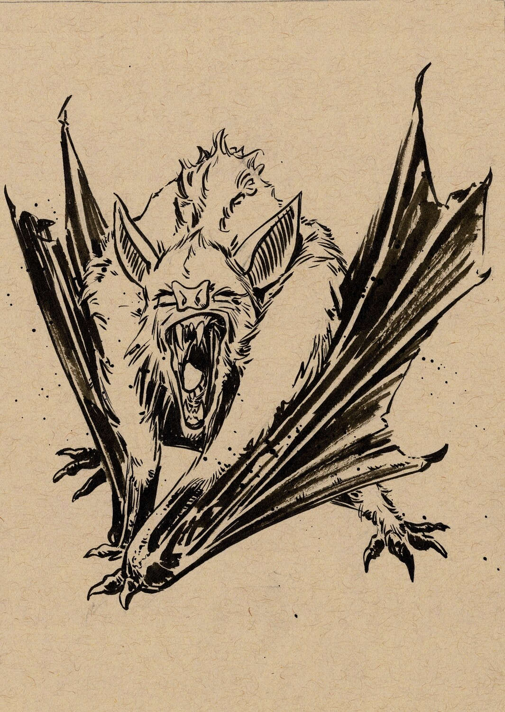 Drawlloween 2020 - 26 - Batsquatch