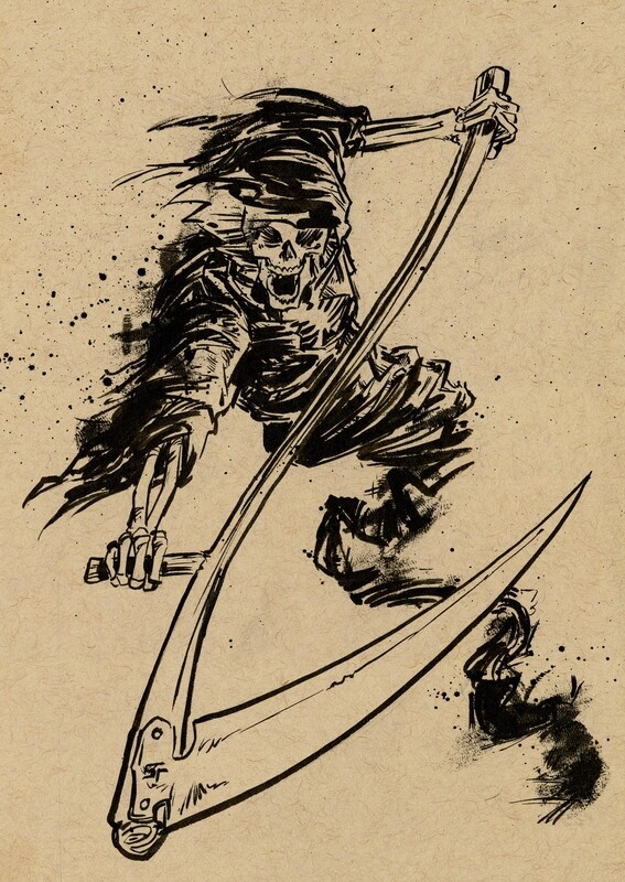 Drawlloween 2020 - 31 - Reaper
