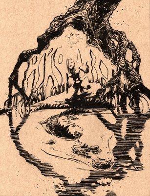 Inktober #11 - Swamp Citizens