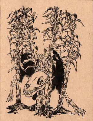 Inktober #15 - Cornfield Capers