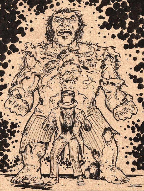 Inktober #20 - Dr. Jekyl and Mr. Friday