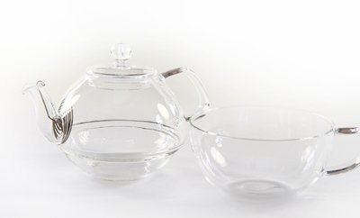 Glass Teapot with Cup 330ml