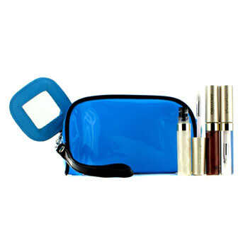 Lip Gloss Set With Blue Cosmetic Bag (3xMode Gloss, 1xCosmetic Bag)  3pcs+1bag