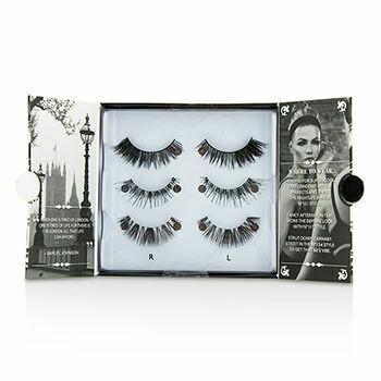 The London Edit False Lashes Multipack - # 121, # 117, # 154 (Adhesive Included)  3pairs