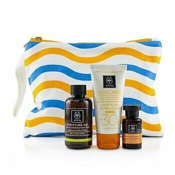 Suncare Set: Suncare Oil Balance Face Cream SPF30 - Tint 50ml + Purifying Gel 75ml + Protective Hair Oil  3pcs+1bag