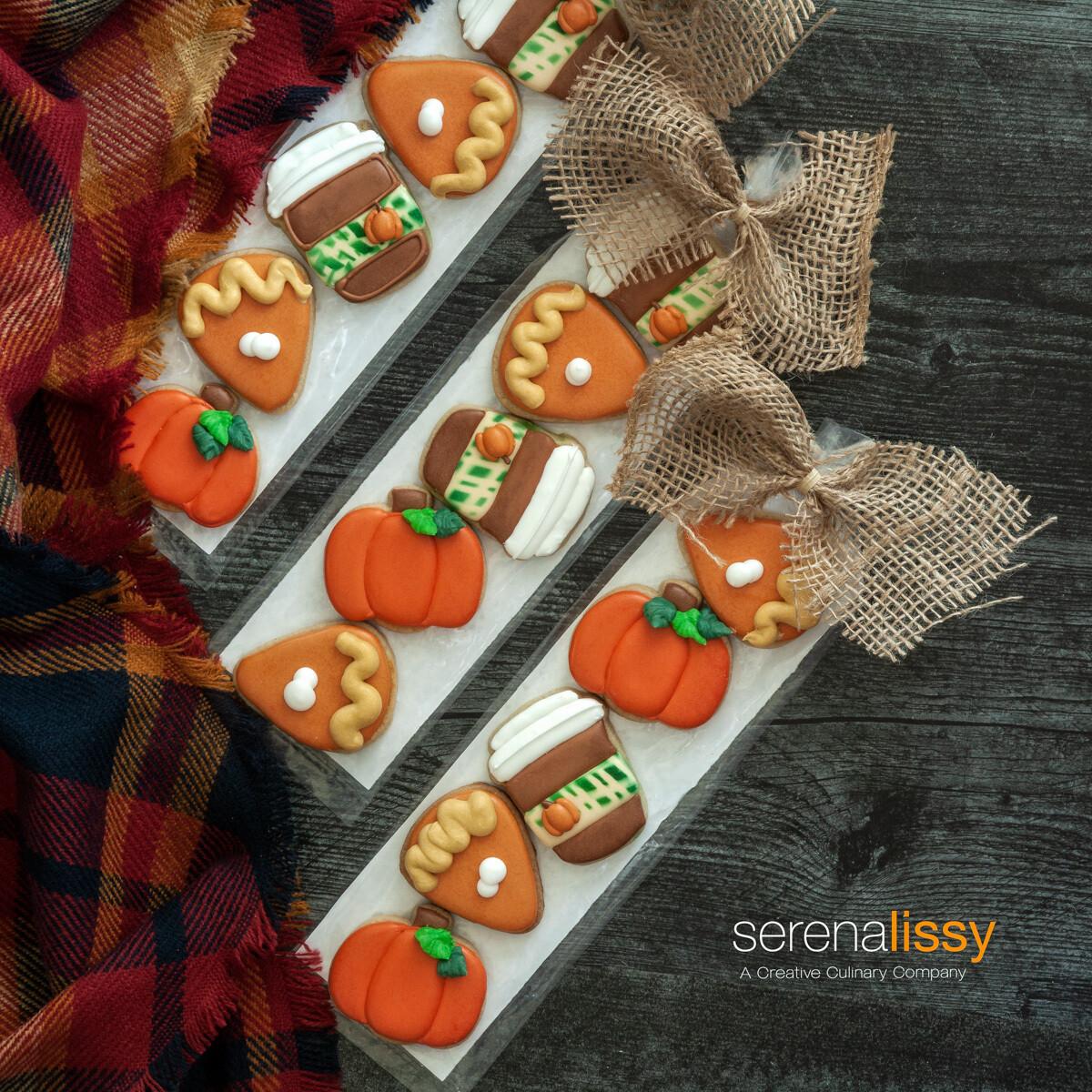 6 piece decorated mini sugar cookies
