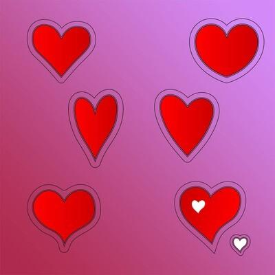 7 piece Heart Set