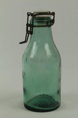 Green Preserve Jar with Porcelain Lid