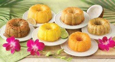 GOURMET GIFTS - MINI CAKE SAMPLER TROPICAL 6 PACK