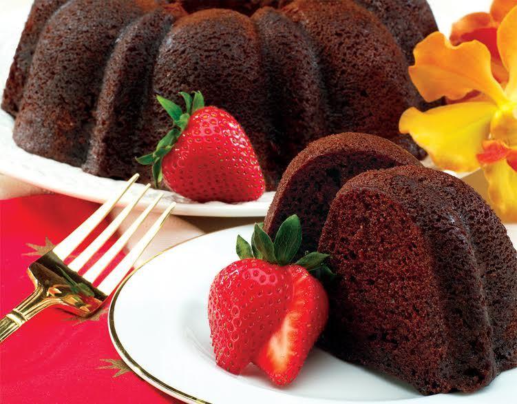 GOURMET GIFTS - DECADENT CHOCOLATE-CHOCOLATE CHIP  BUNDT CAKE