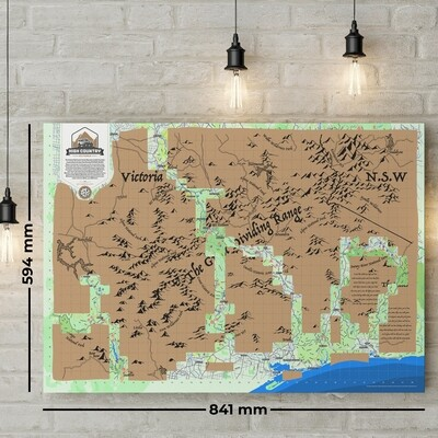 Victorian High Country Scratch Map SMVHC