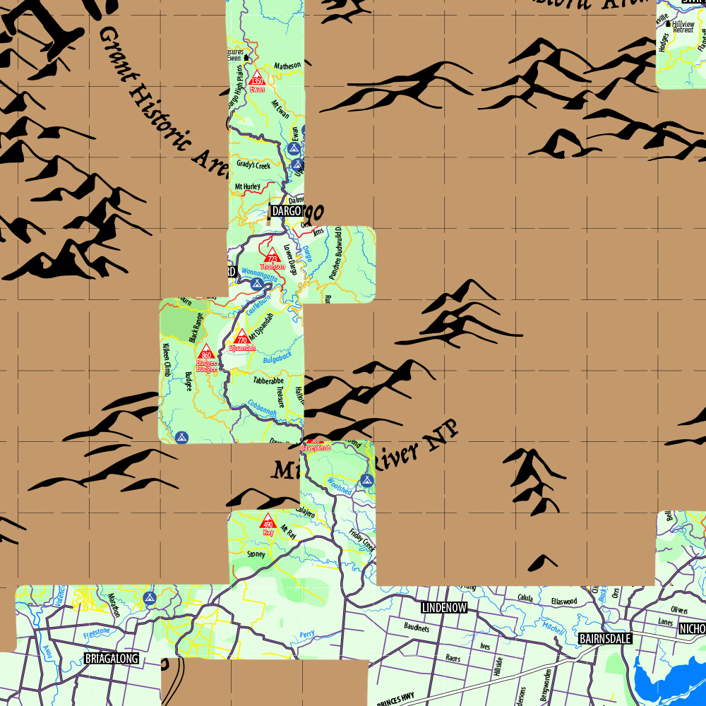 Victorian High Country Scratch Map