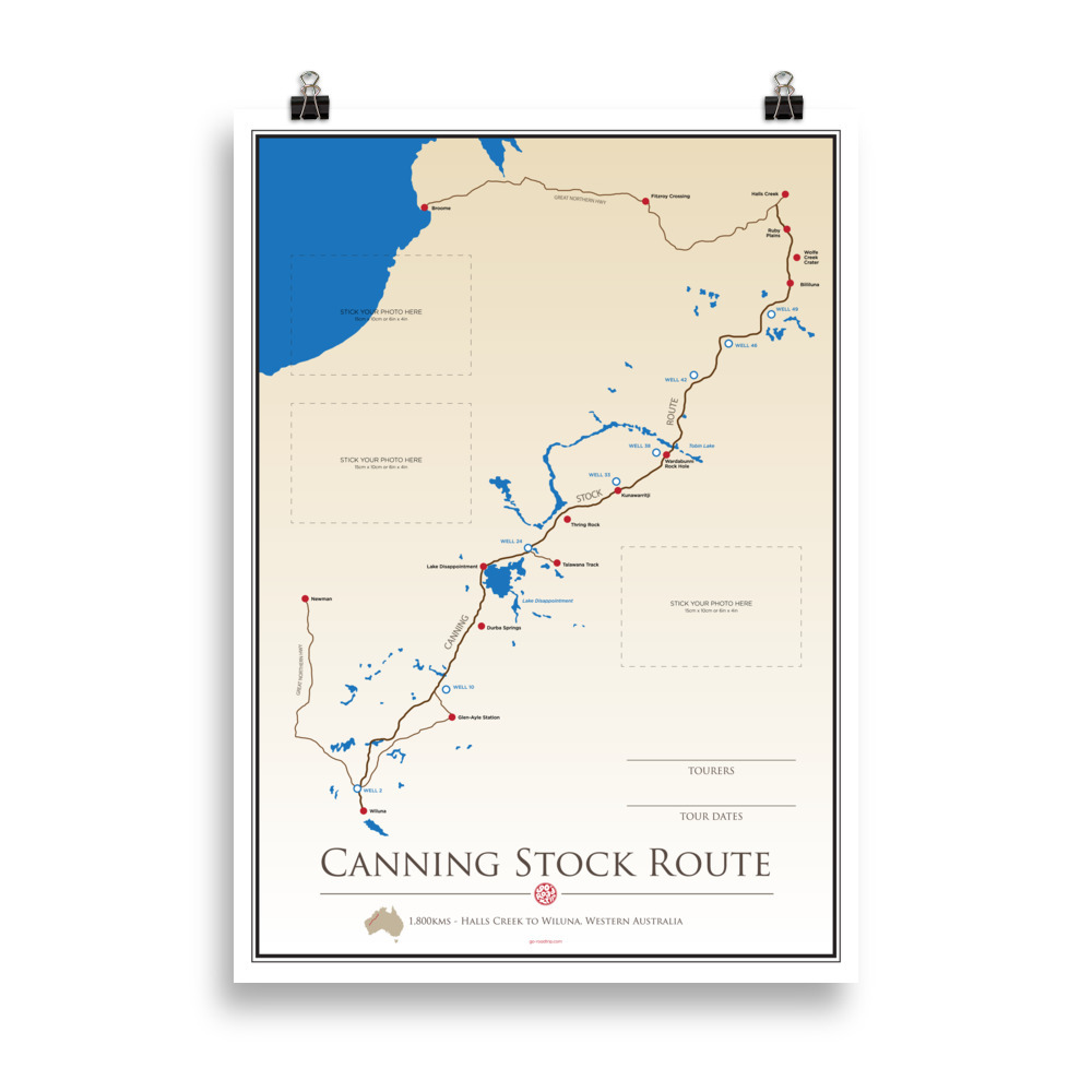 ICONIC TRACK: Canning Stock Route Personal Poster
