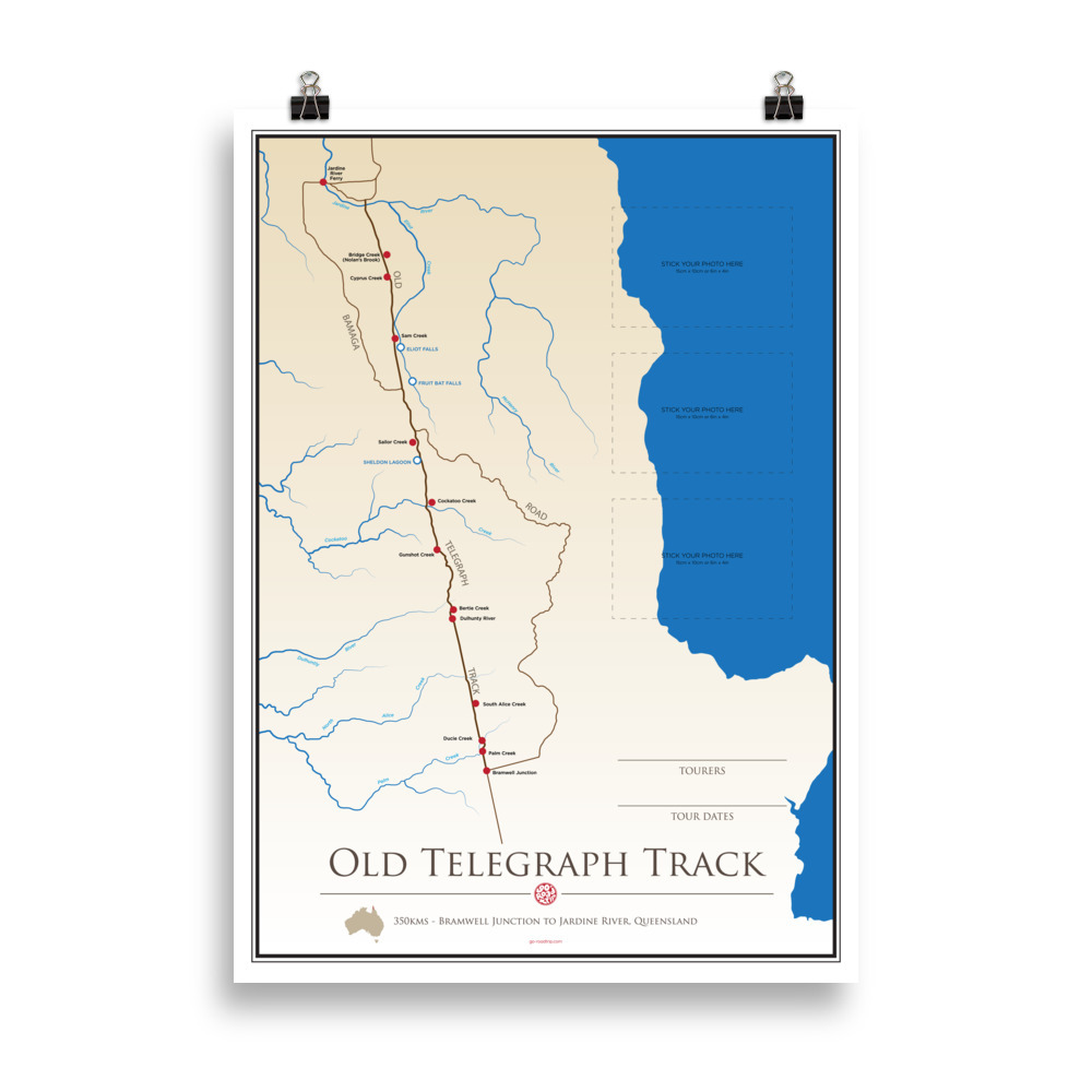 ICONIC TRACK: Old Telegraph Track Personal Poster