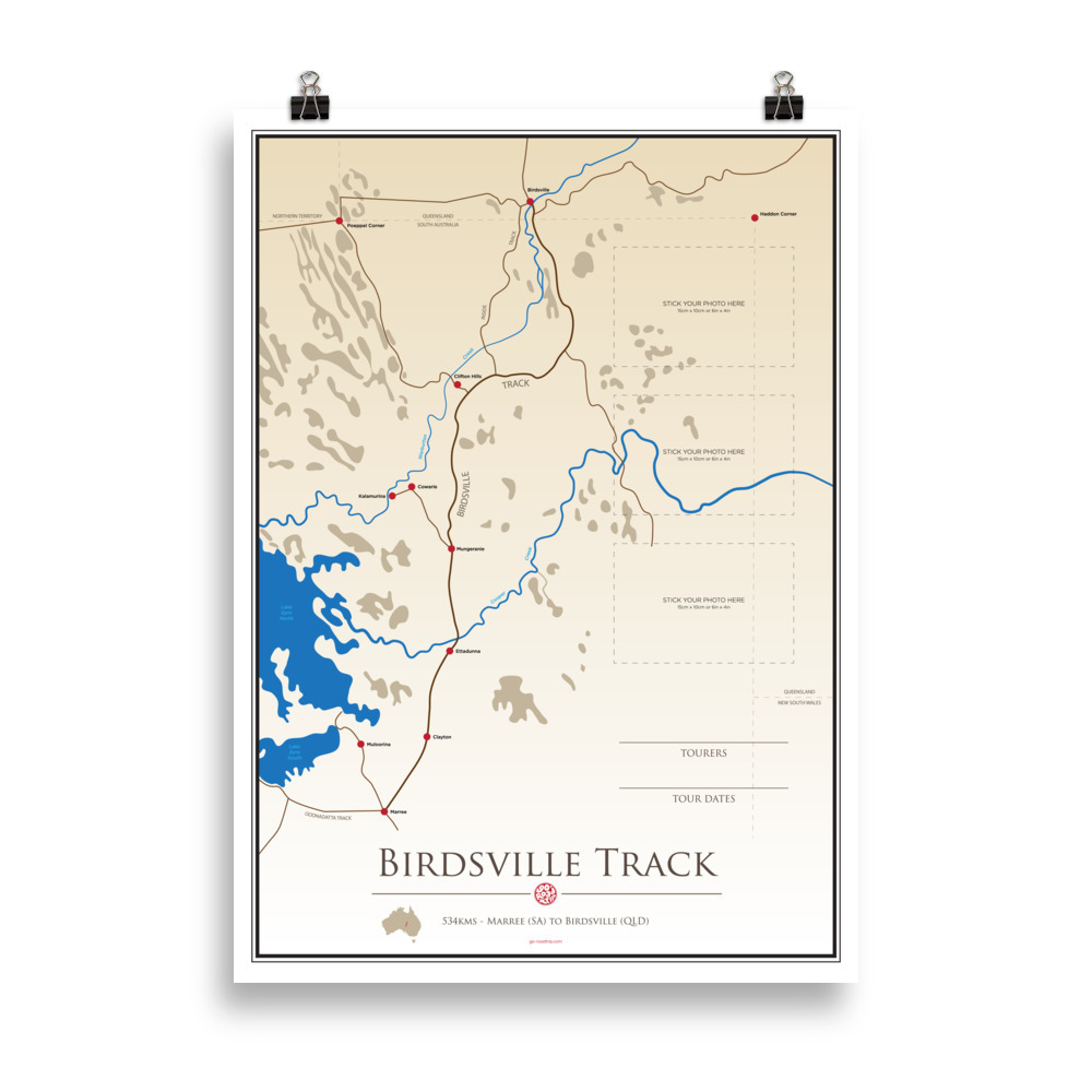 ICONIC TRACK: Birdsville Track Personal Poster