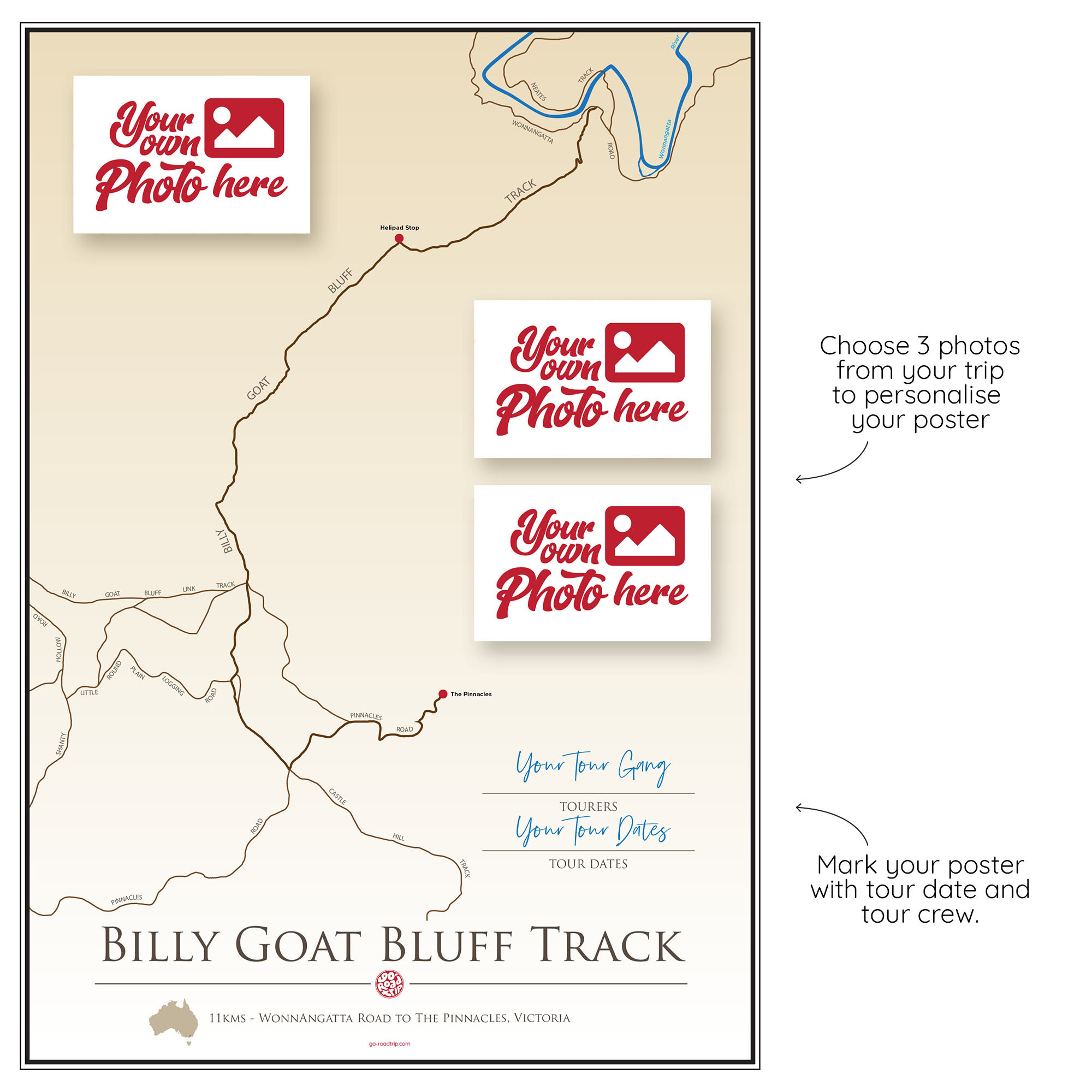ICONIC TRACK: Billy Goat Bluff Track Personal Poster