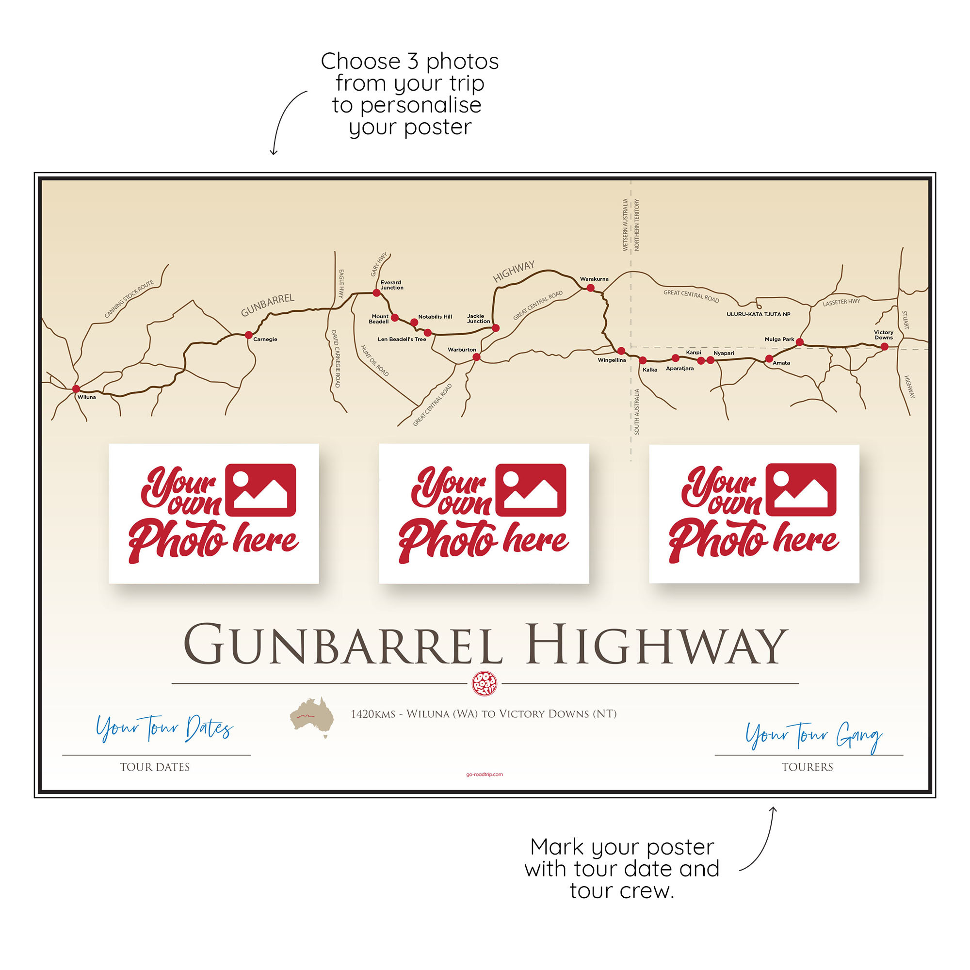 ICONIC TRACK: Gunbarrell Highway Personal Poster