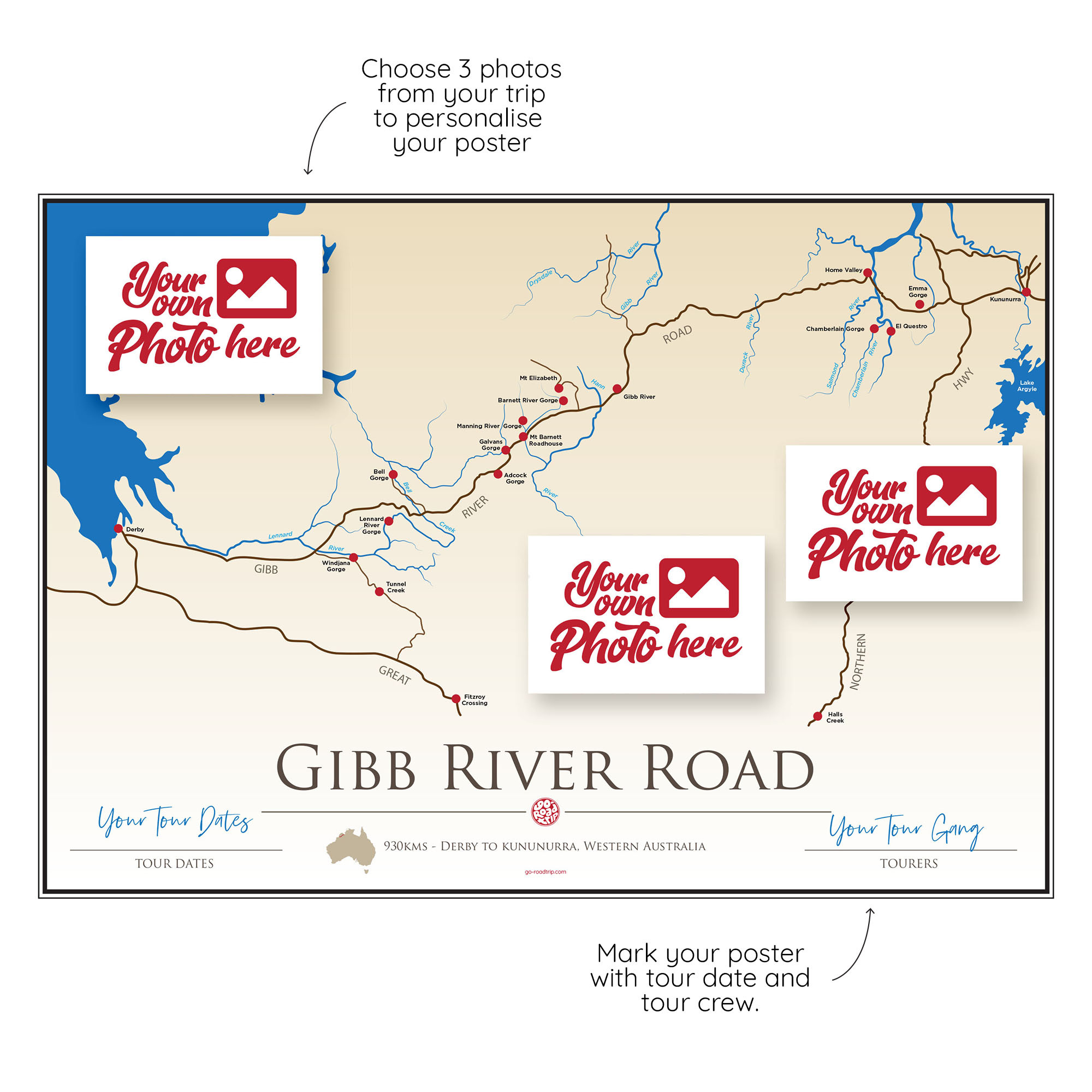 ICONIC TRACK: Gibb River Road Personal Poster