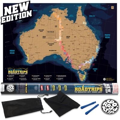 Australian Roadtrip Scratch Map poster AUSRTMAP