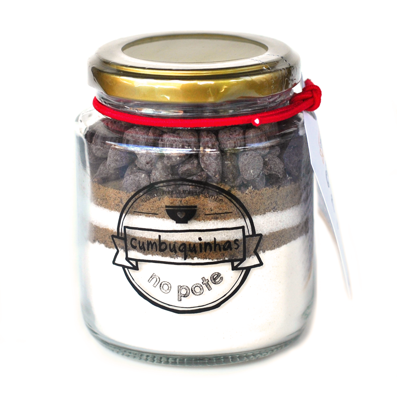 Mini Cookie no Pote Chocolate  - cx. com 24