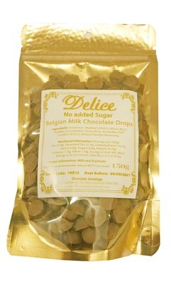 No added Sugar Belgian Milk Chocolate Drops 34% Couveture Chocolate Chips