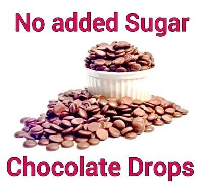 No added Sugar Belgian Milk Chocolate Drops (34%) 150g