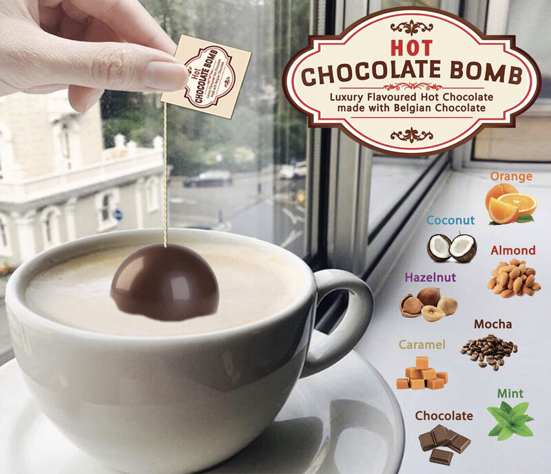 Box of 3 Belgian Hot Chocolate Bombs - 15 Flavours