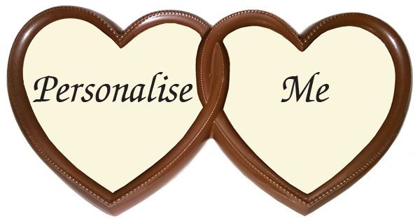 Personalised Printed Belgian Chocolate TWIN HEARTS Frame