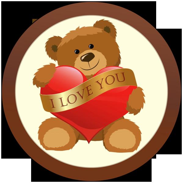 Printed Love Round Chocolate Plaque