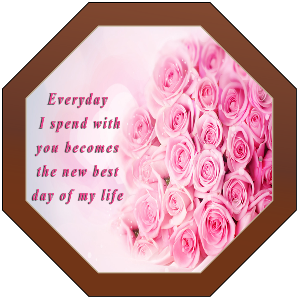 Printed Love Octagonal Chocolate Plaque