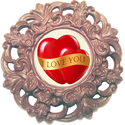 Printed Love Chocolate Frame MAYFAIR