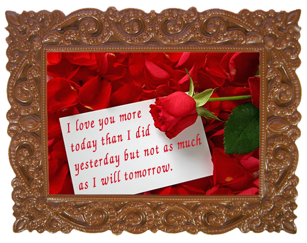 Printed Love Chocolate Frame VICTORIAN